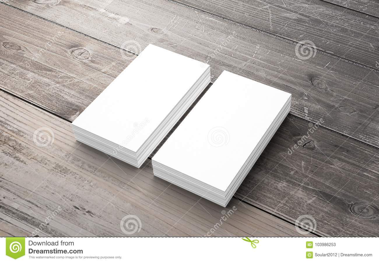 blank business cards on old wooden desk stock image image of