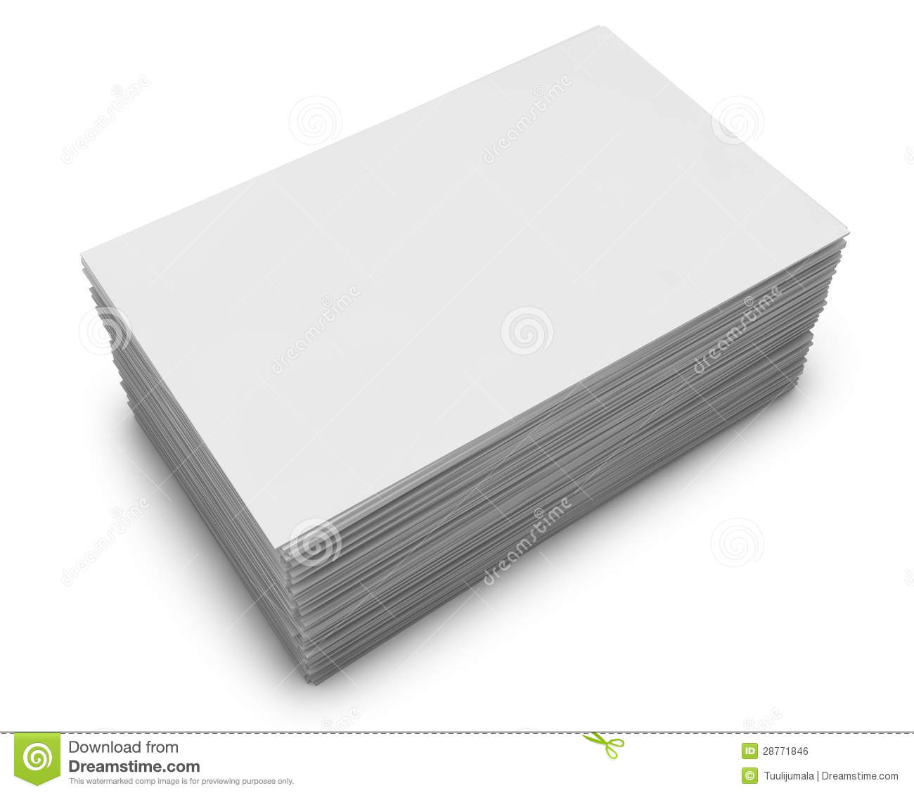 Blank Business Cards Stack Royalty Free Stock Image - Image: 28771846