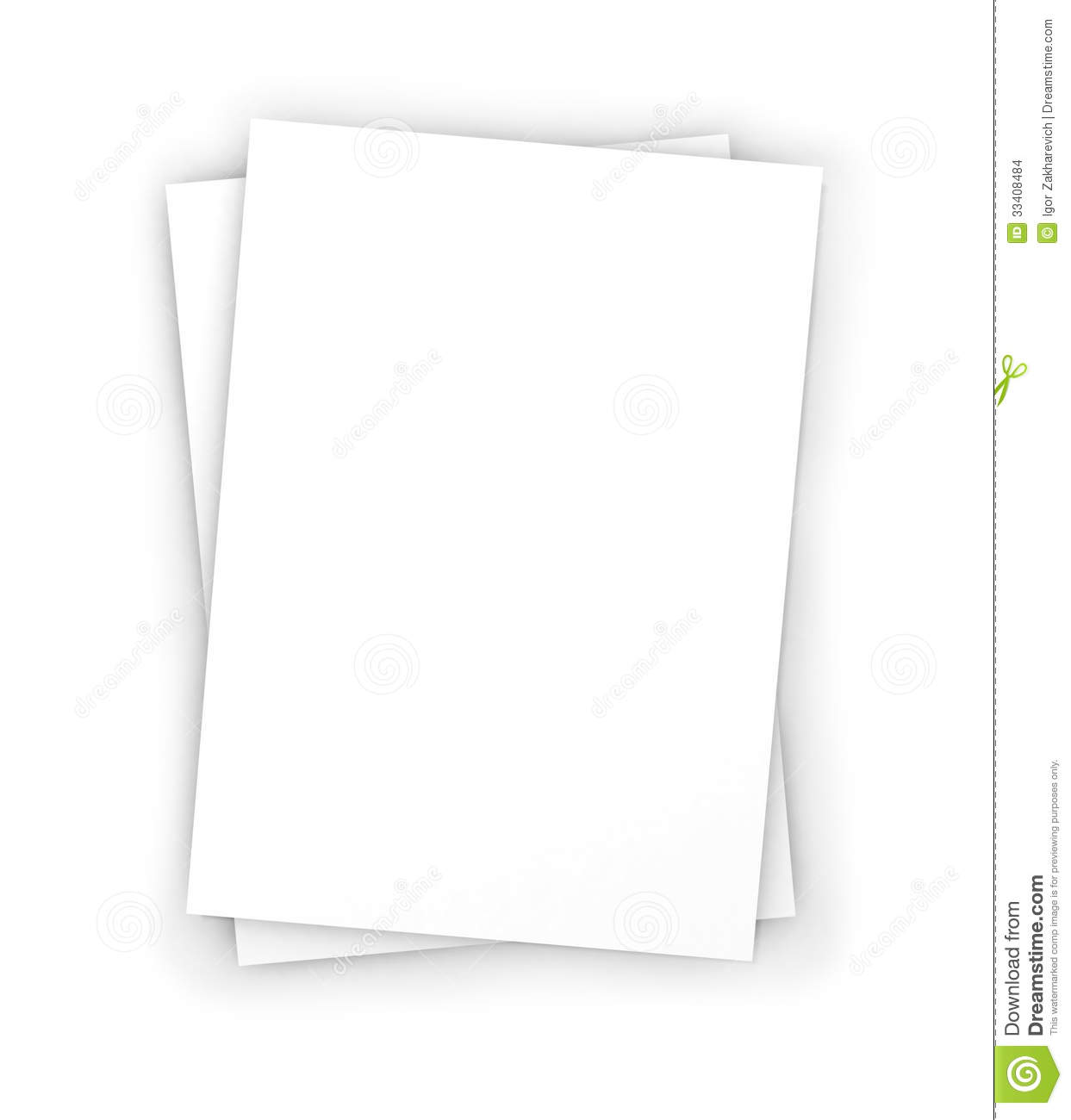 Blank Business Cards In Stack Stock Illustration - Illustration of ...