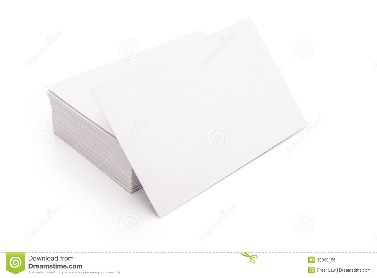 Blank Business Cards Royalty Free Stock Image - Image: 30998156