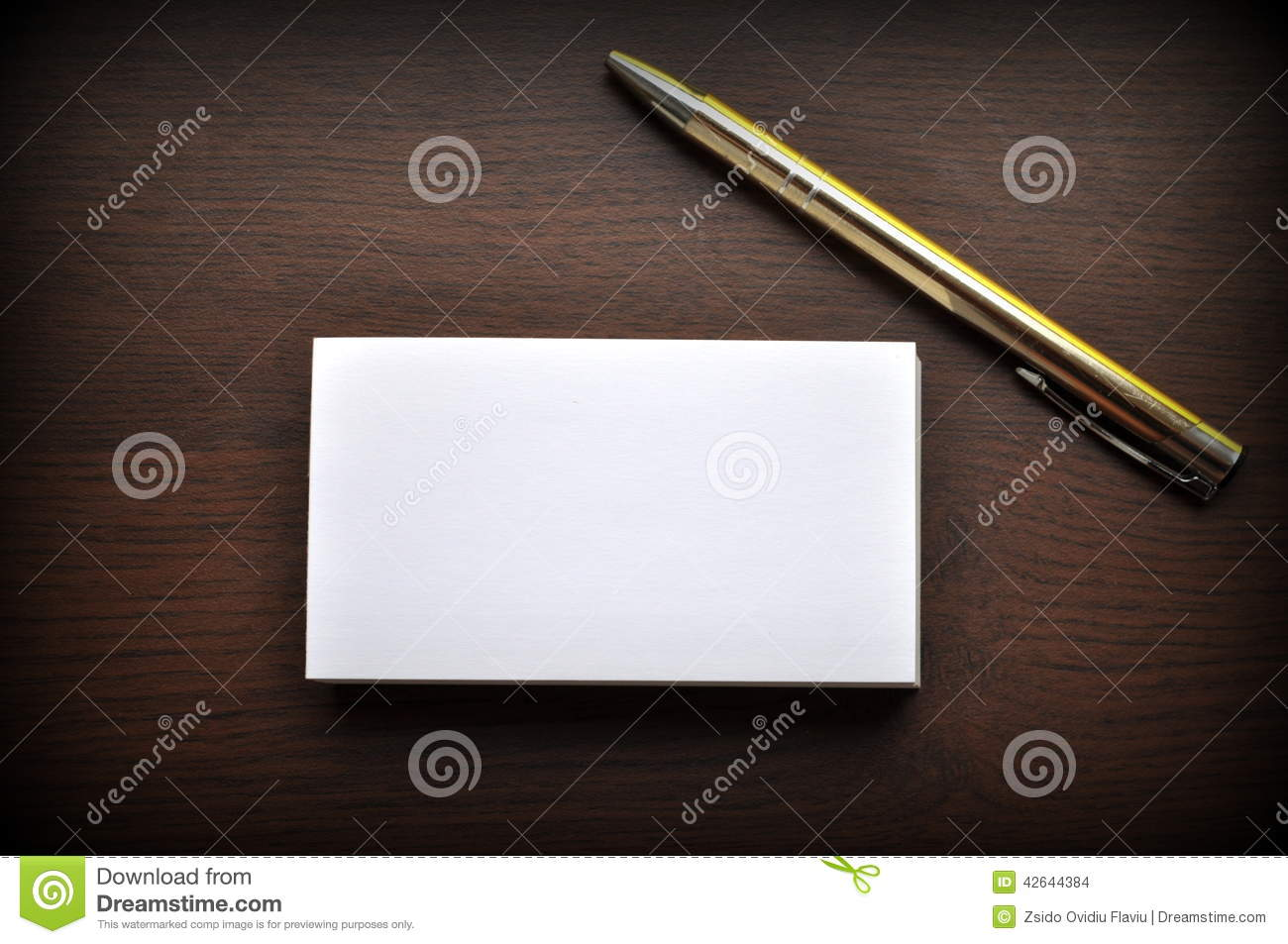 Blank Business Cards stock photo. Image of logo, corporate - 42644384