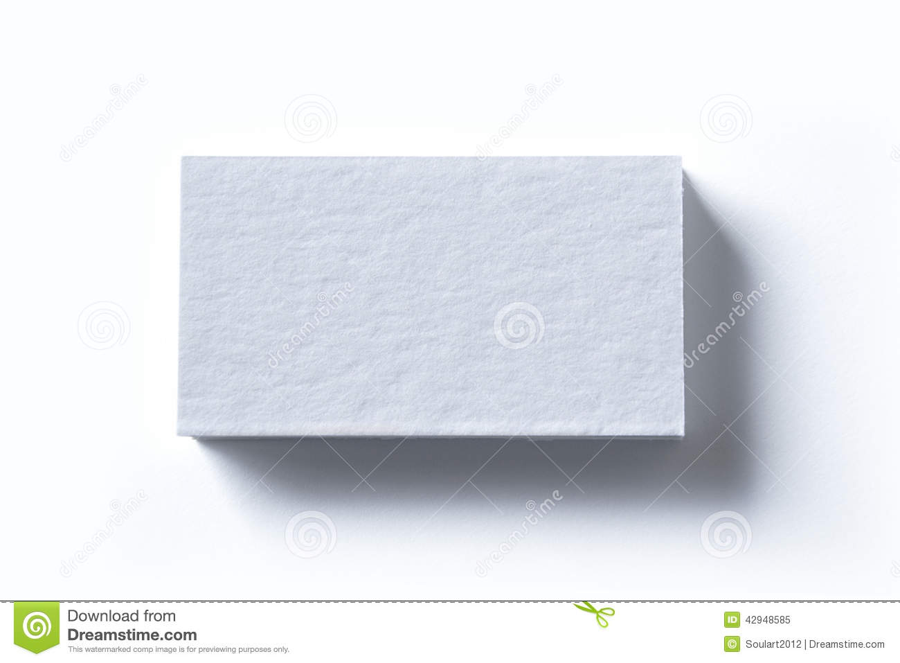 Blank Business Cards White Stock Image
