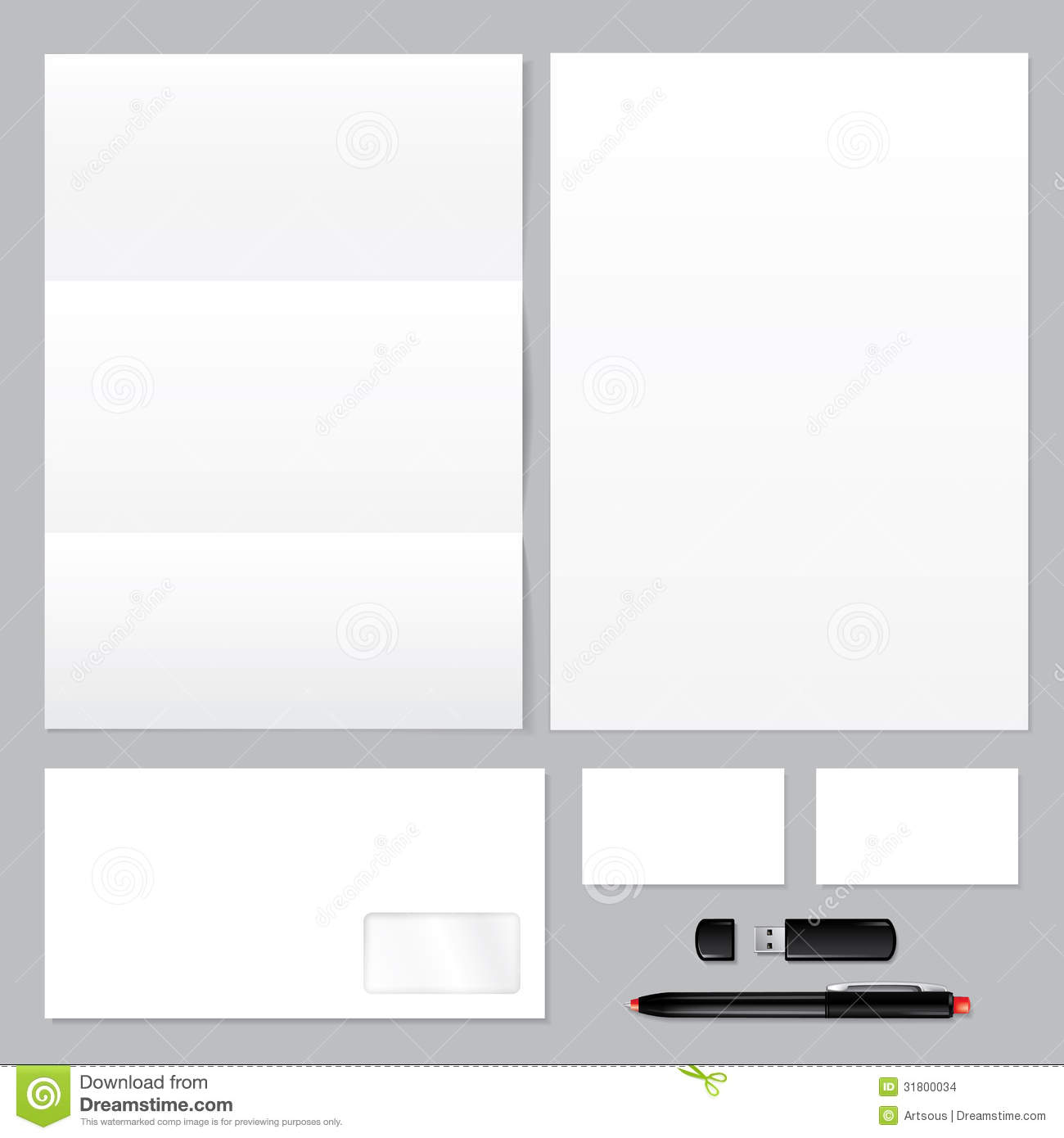 Blank Stationery And Corporate Identity Template Consist: Blank Business Corporate Identity Template Stock Images