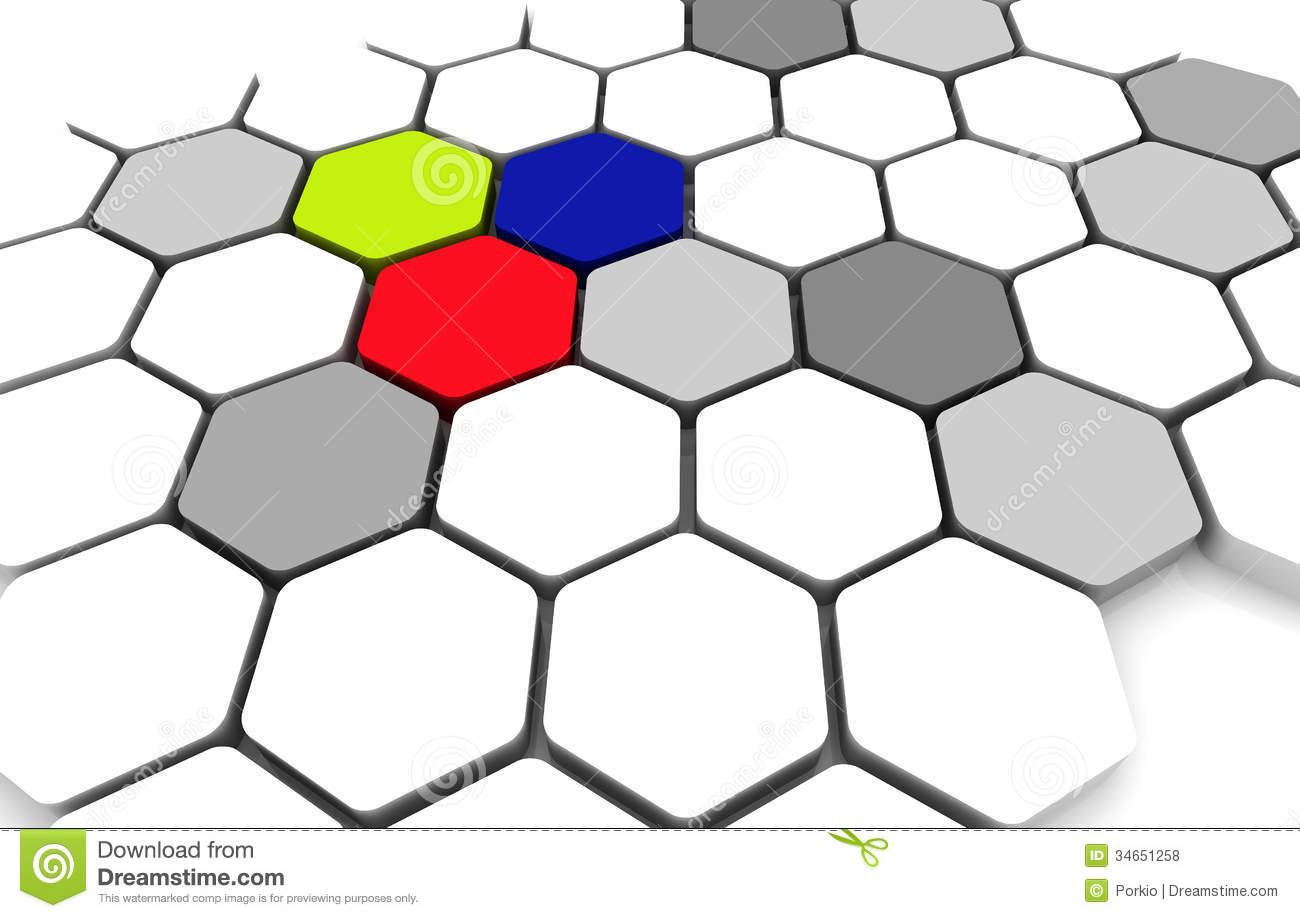 blank business diagram connection beehive background stock