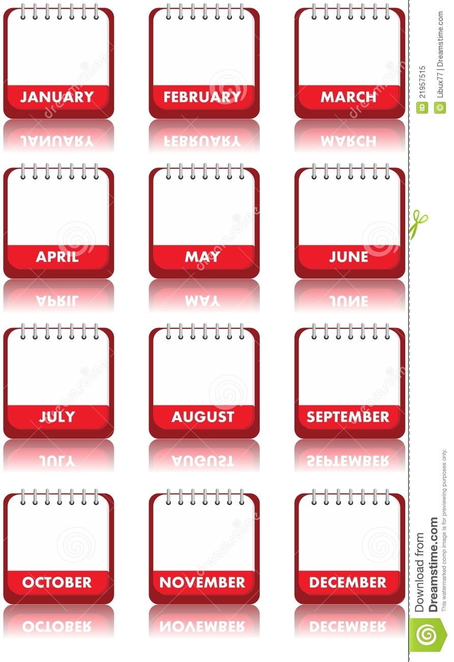 blank calendar stock illustration  illustration of start