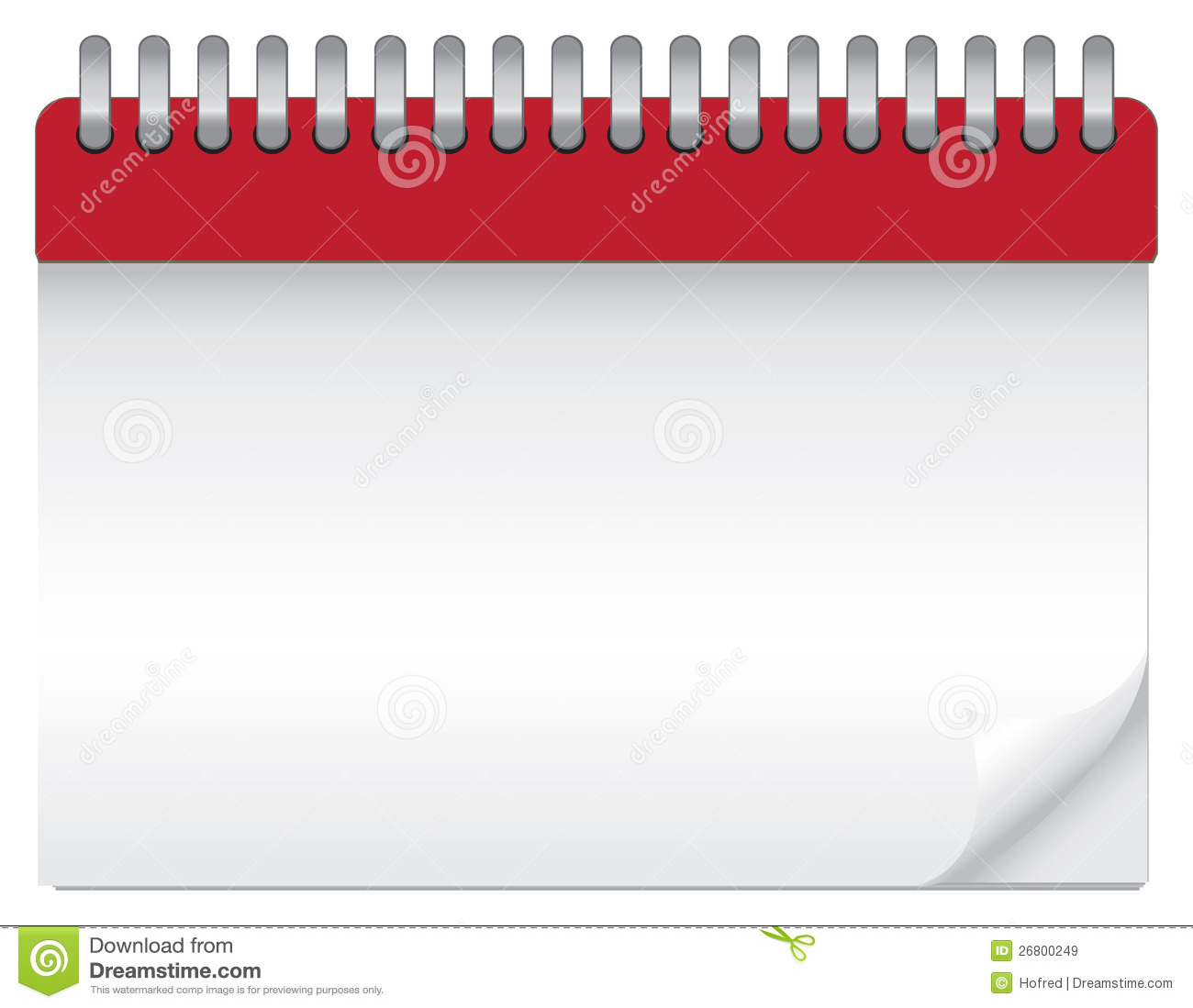 Blank Calendar Svg : Blank calendar stock vector illustration of clear