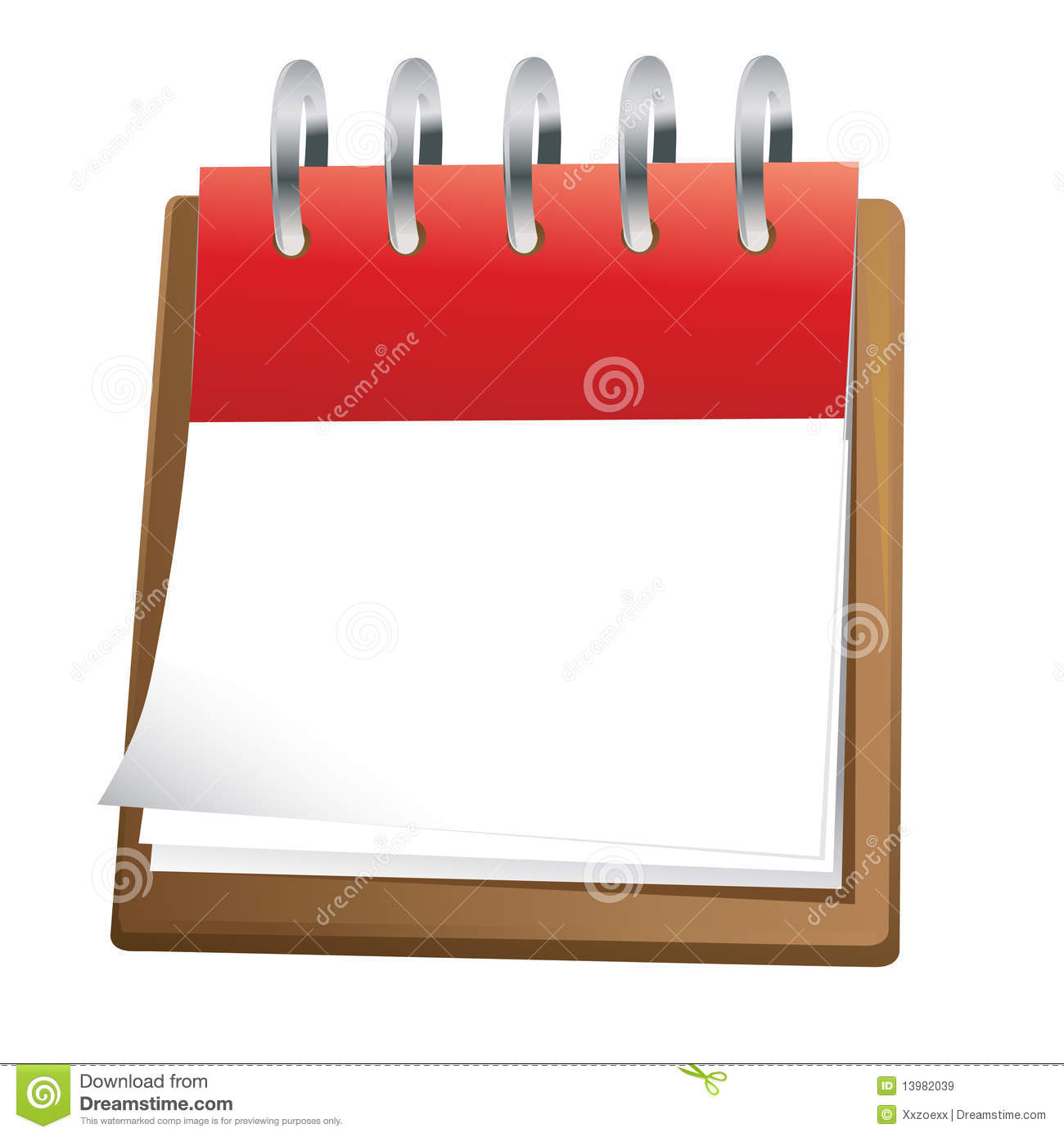 Weekly Calendar Counter : Blank calendar clip art stock vector illustration of