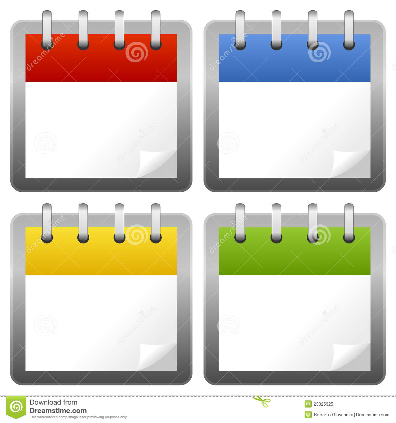Blank Calendar Day Icon : Blank calendar icons set stock vector image of drawing