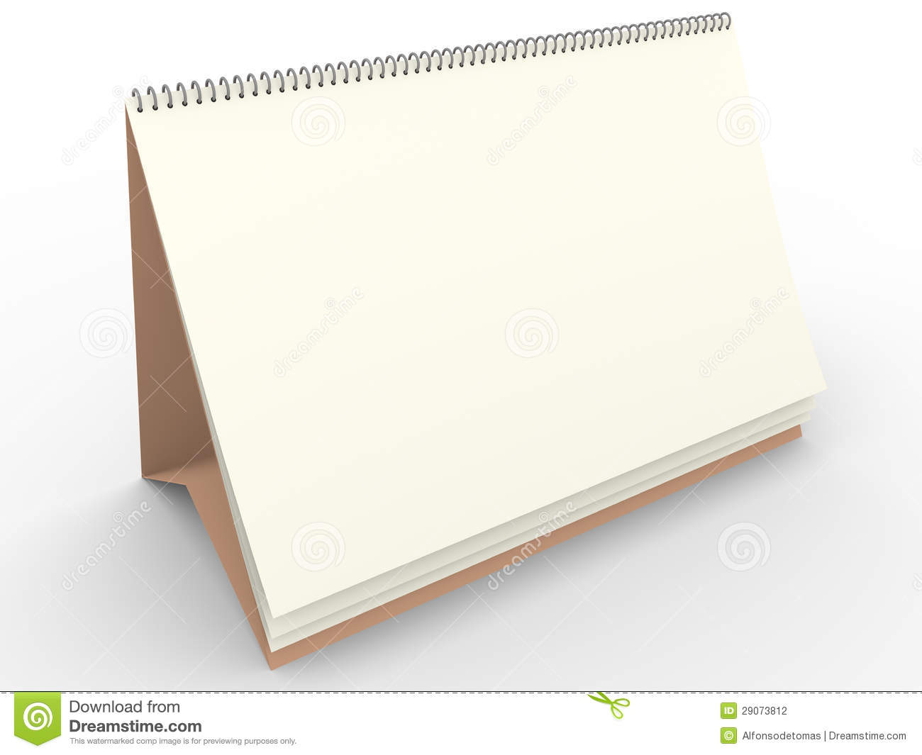 Blank Calendar Template Stock Illustration Illustration Of