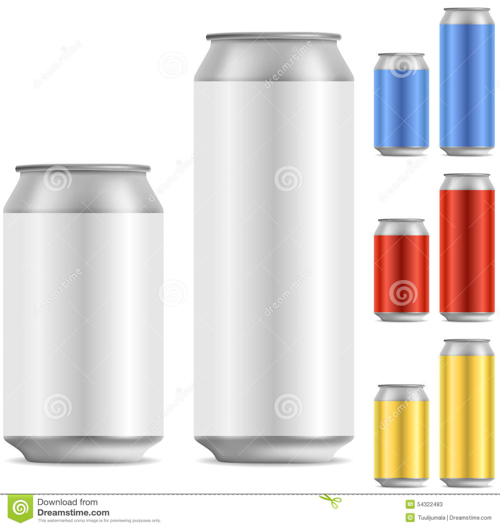 blank can stock vector illustration of design aluminium 54322483
