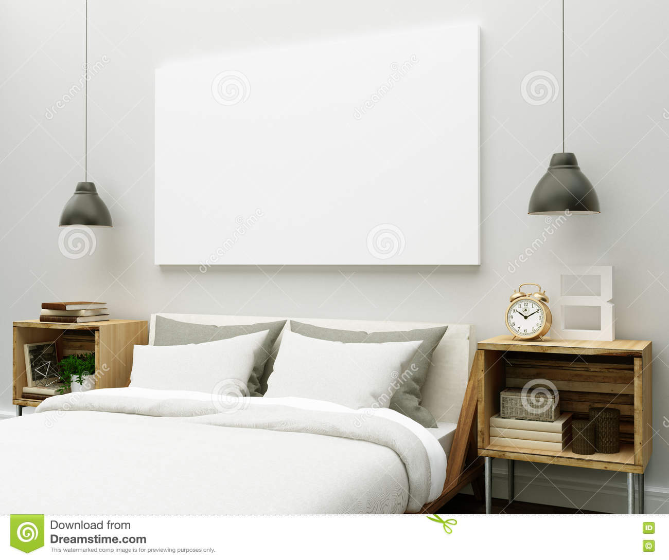 Blank Canvas In The Bedroom Stock Image Image Of Cabinet White 78308881