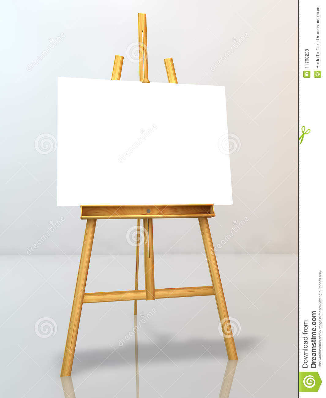 Blank Canvas On Easel Royalty Free Stock Photos - Image: 11768228
