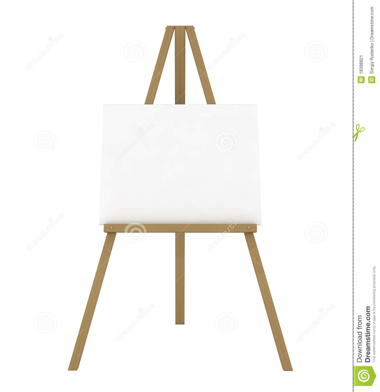Blank Canvas Easel Stock Illustrations 1 374 Blank Canvas Easel