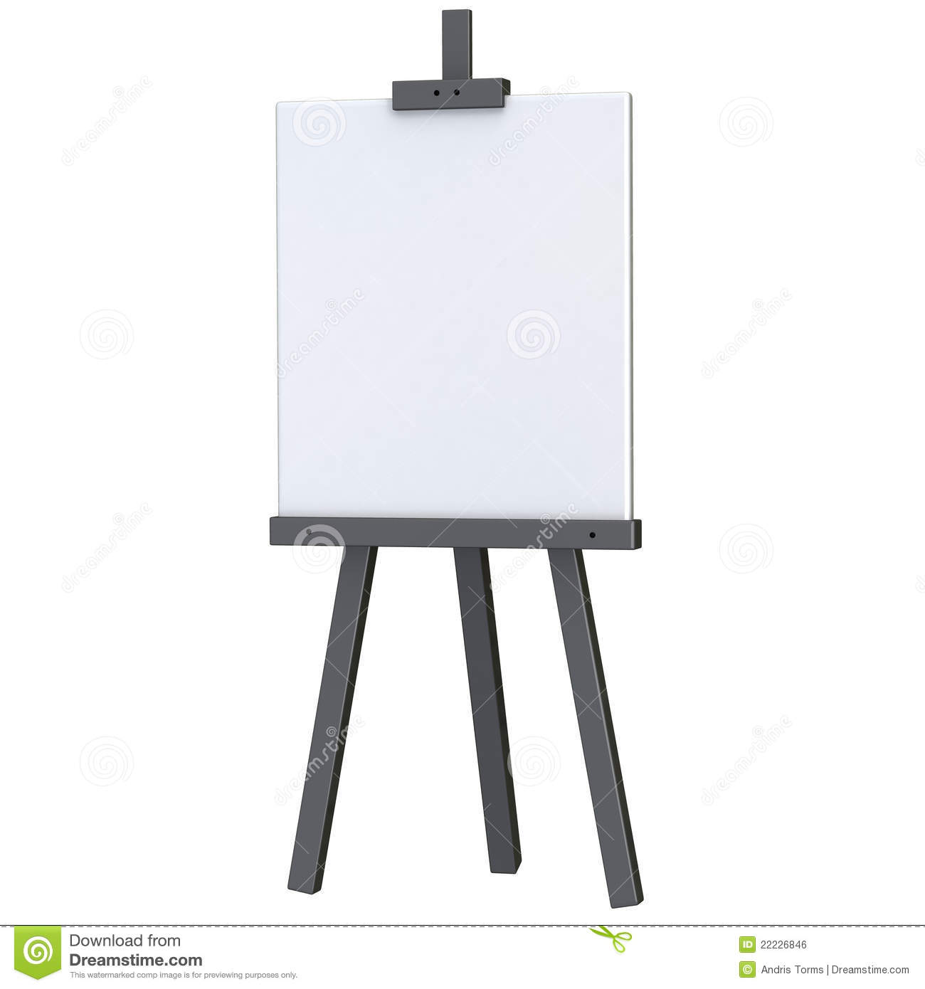 Exhibition Stand Black : Blank canvas on easel d stock illustration image of