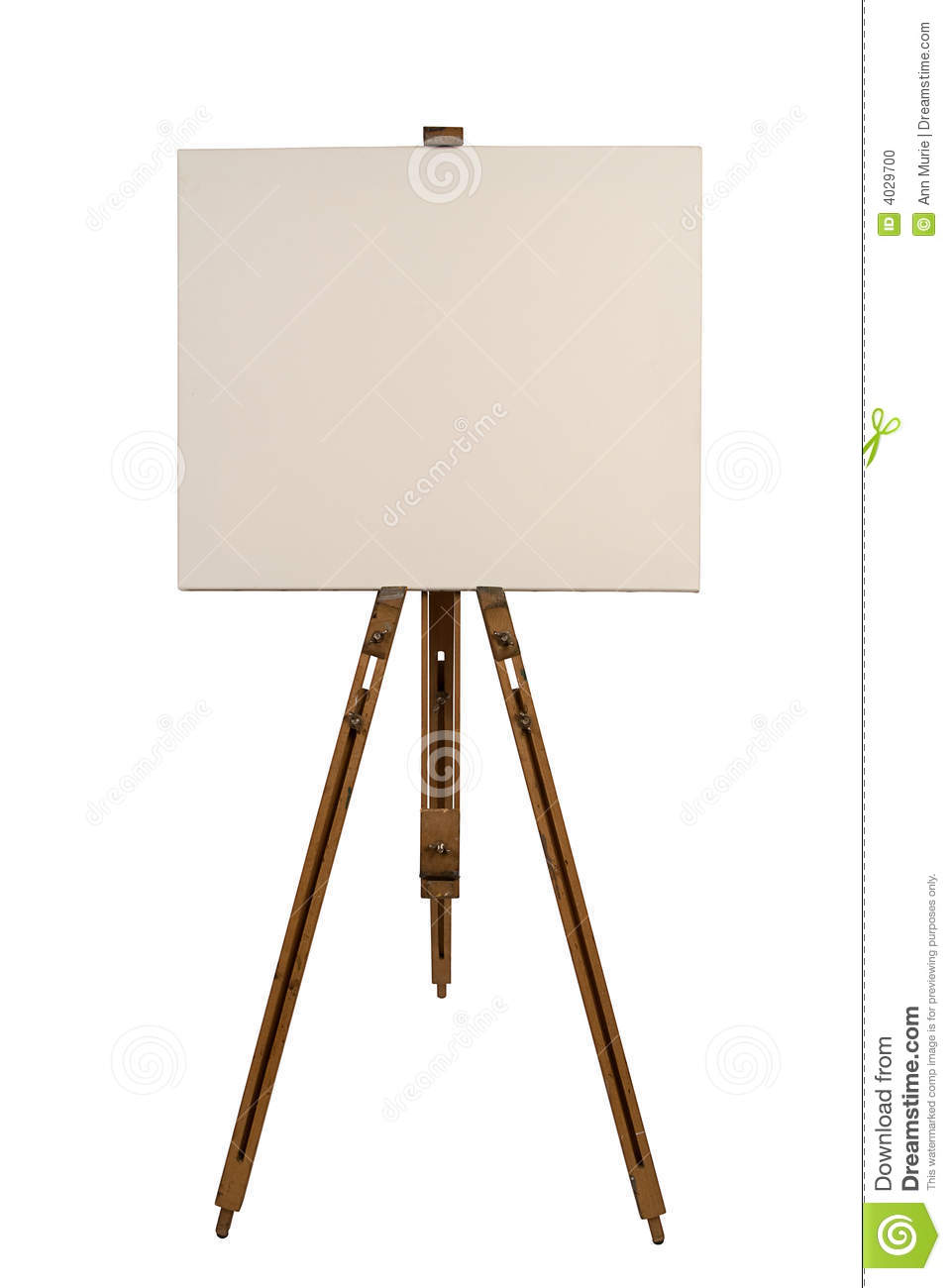blank canvas on an easel stock photo image of gallery 4029700