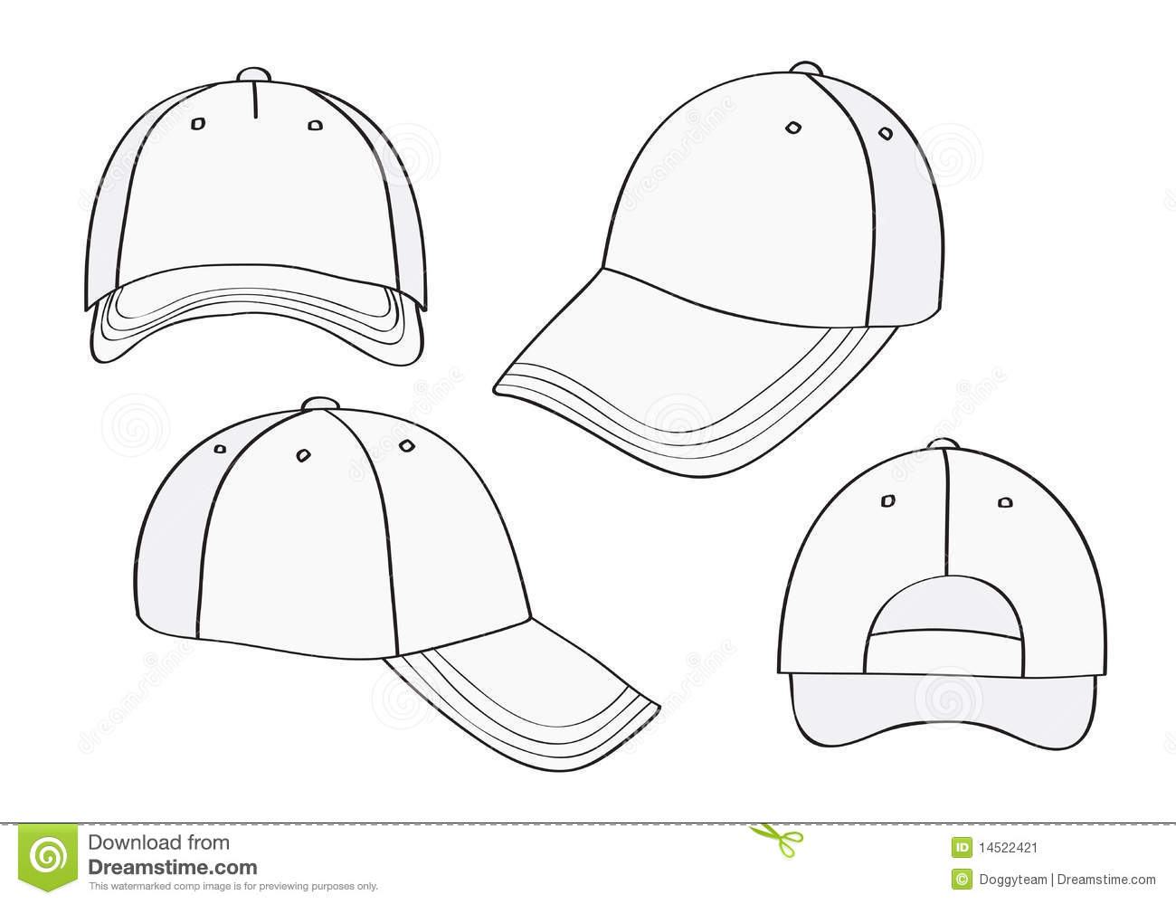 Blank Cap Stock Vector Illustration Of Objects
