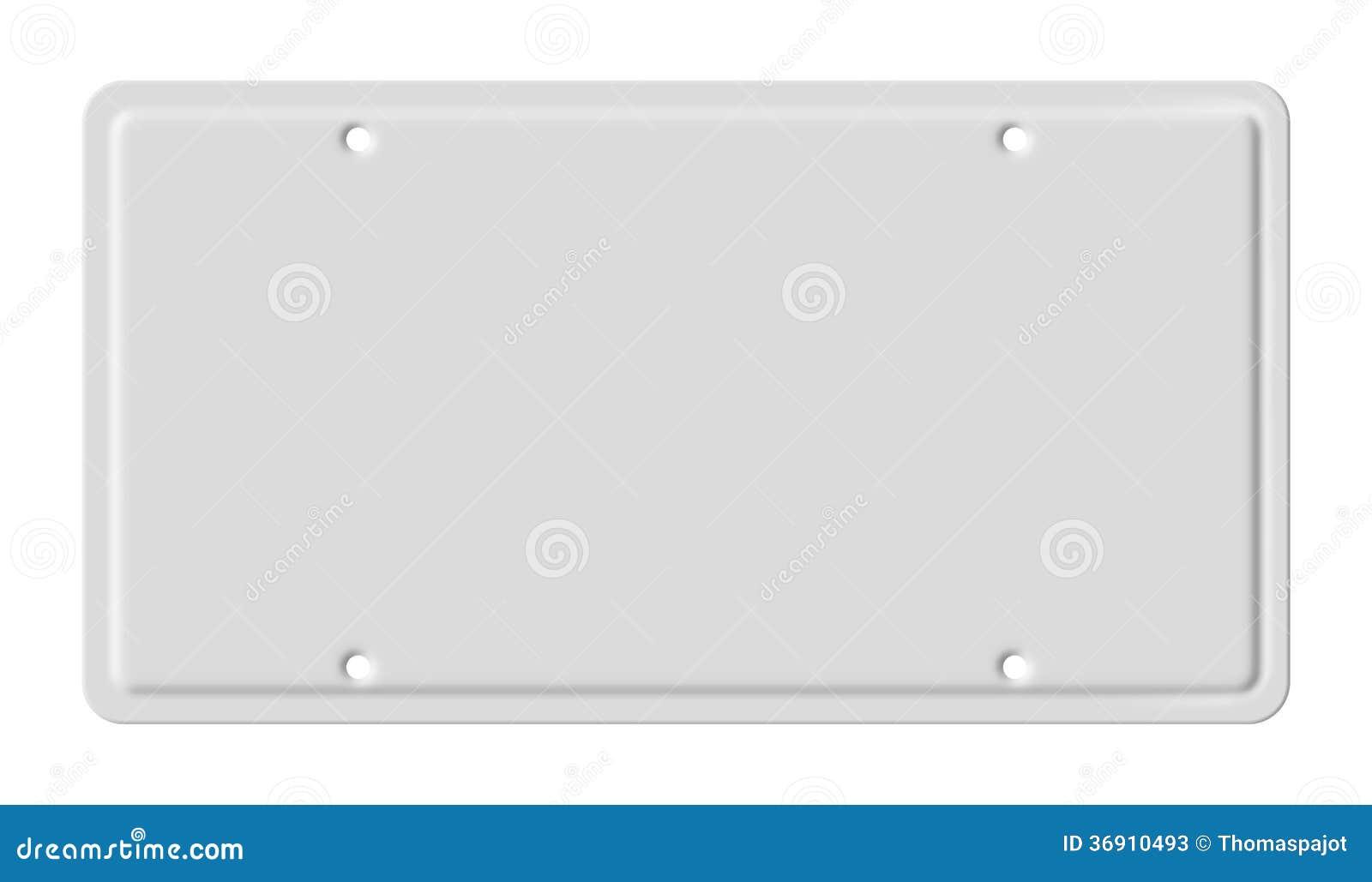 Blank Car Plate Stock Photos Image 36910493