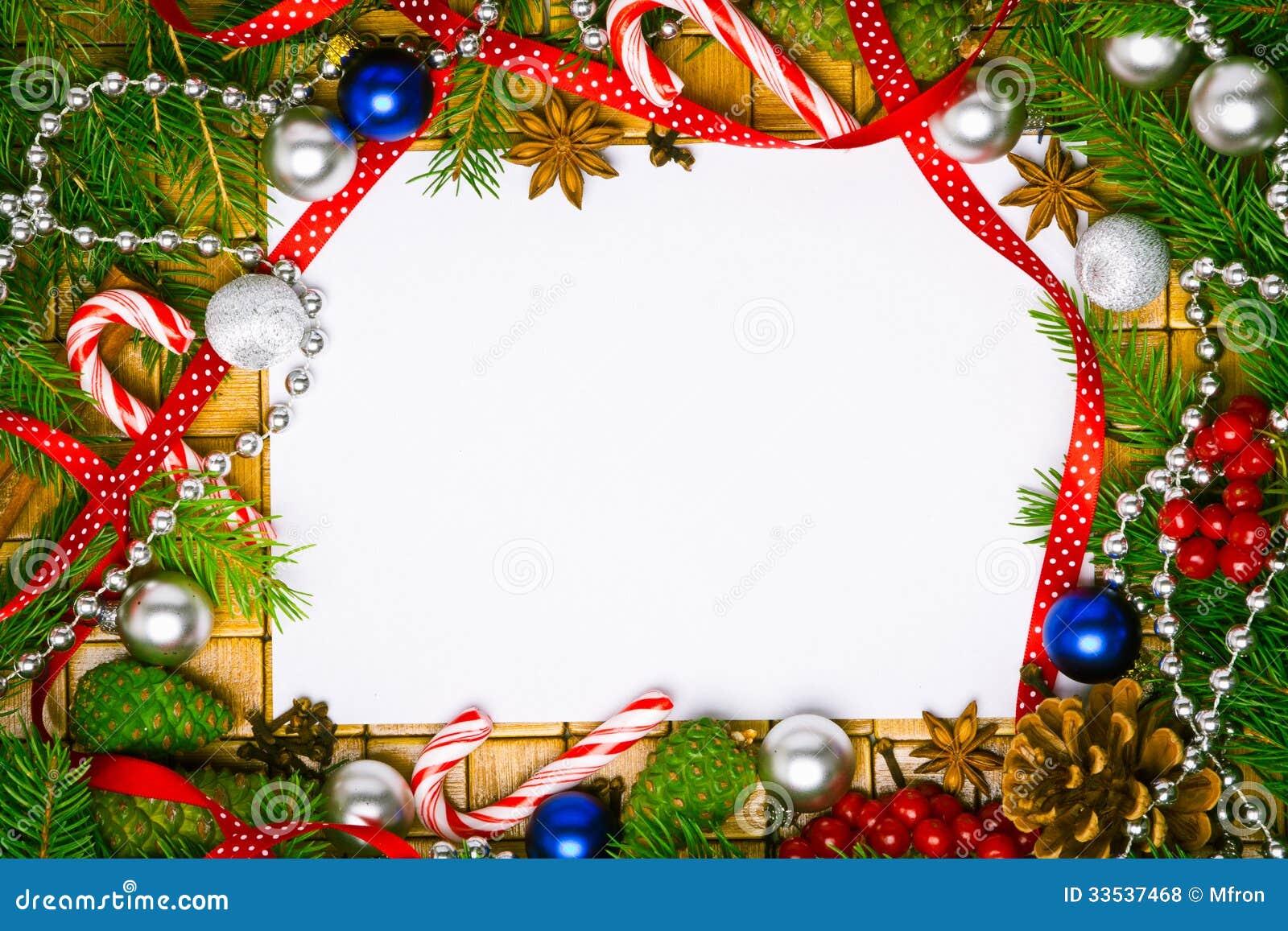 Christmas Greetings Images.Blank Card For Christmas Greetings Stock Photo Image Of