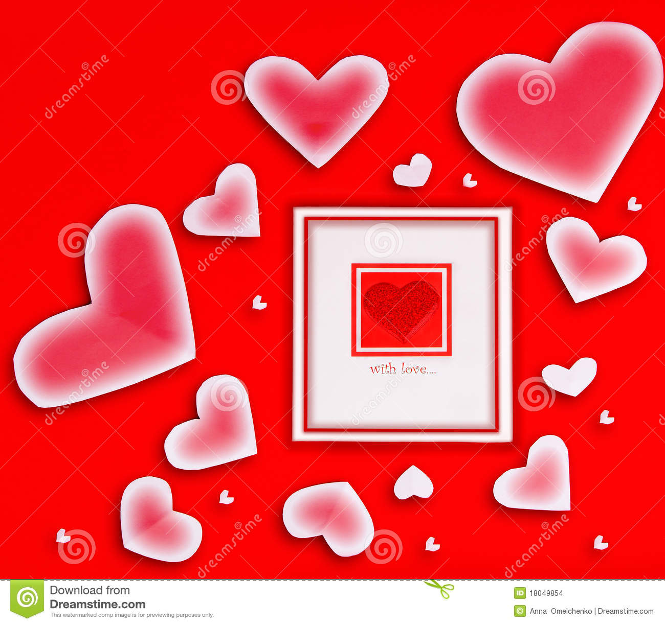 Blank card with red heart stock photo. Image of decoration ...