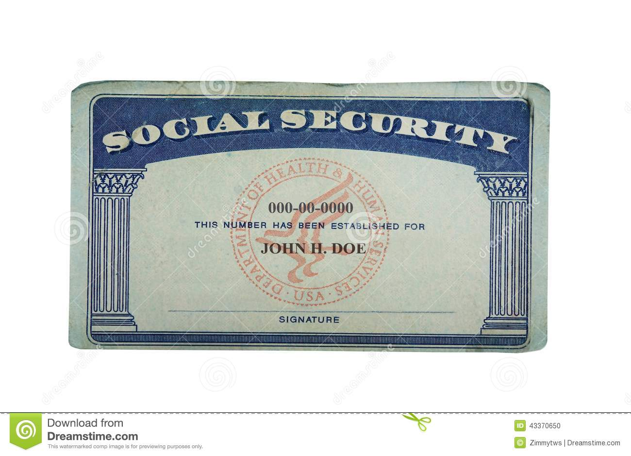 blank social security card template download blank card stock photo image of paper social security 20624