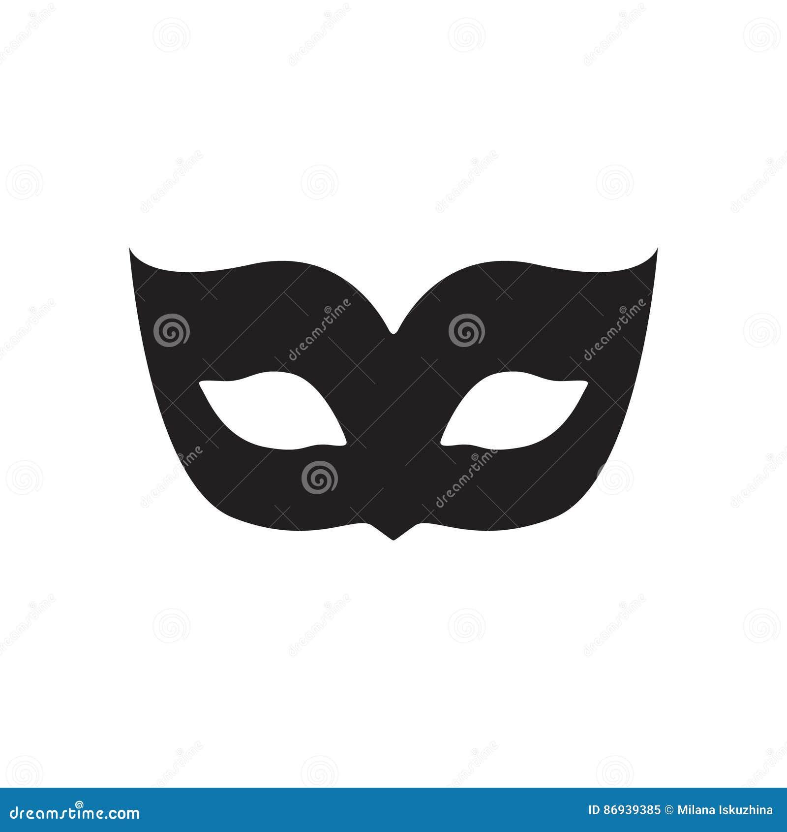 joker mask template - blank carnival mask icon template illustration vector