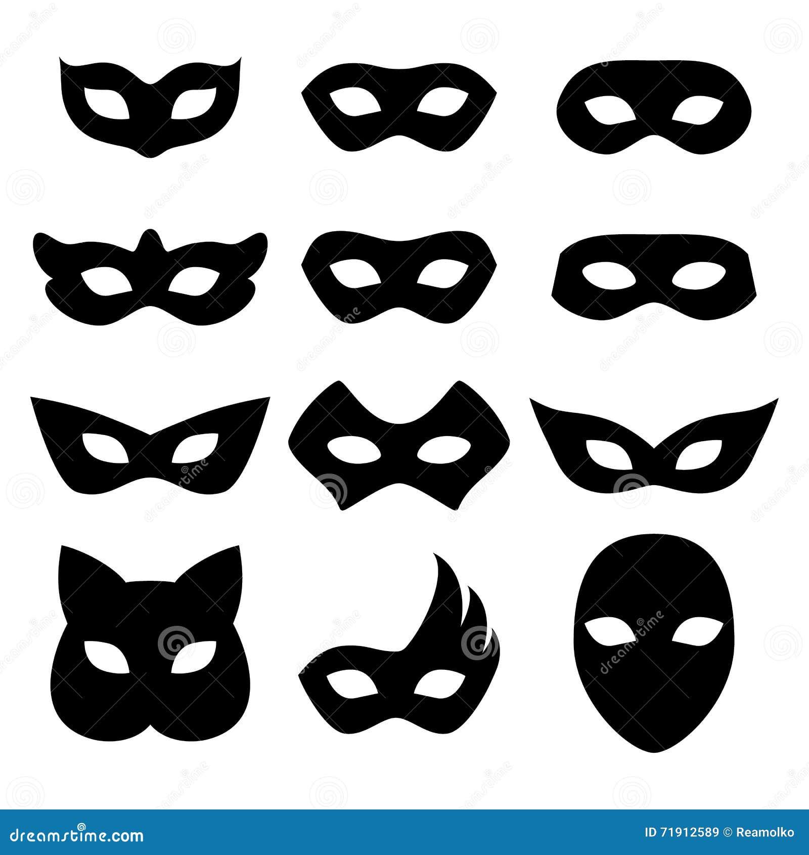 blank carnival mask icon template illustration vector illustration 53272226. Black Bedroom Furniture Sets. Home Design Ideas