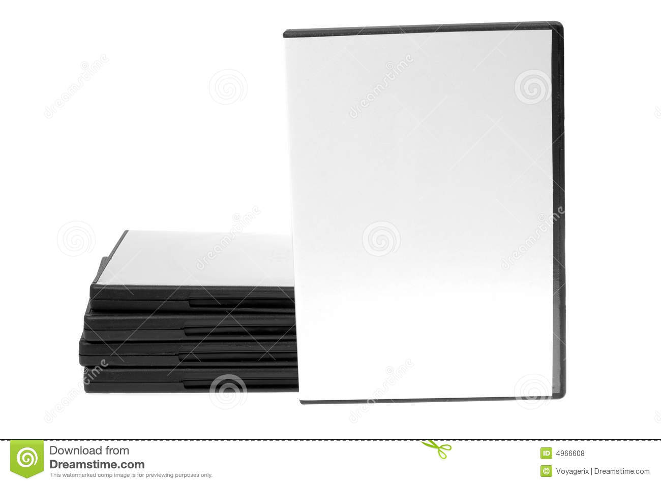 Blank case DVD / CD and disk on white background