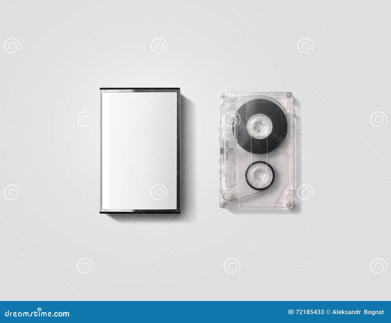 blank cassette tape box design mockup    clipping path