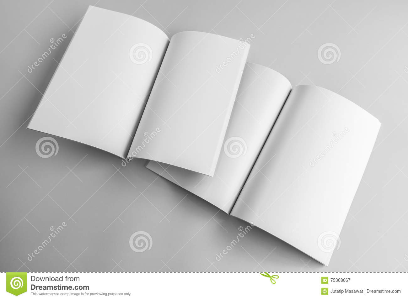 blank catalog magazine book template with soft shadows ready