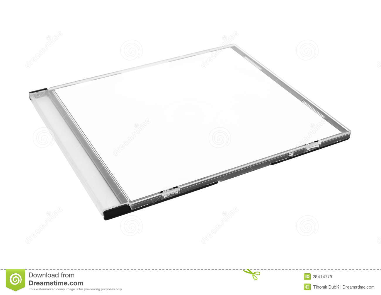 Blank CD Case Royalty Free Stock Images - Image: 28414779