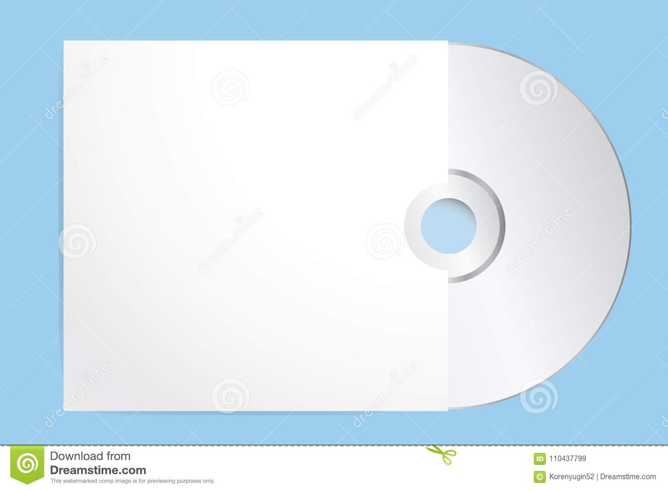 blank cd with cover template vector illustration eps 10 stock