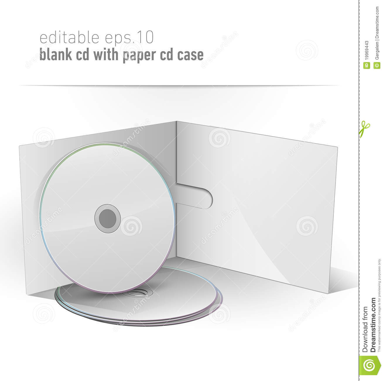 Cd And Paper Cd Case Stock Images - Image: 12116034