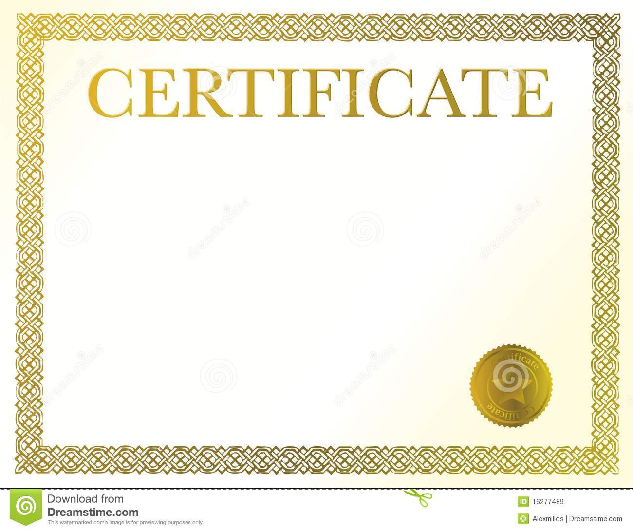 blank certificate royalty free stock images