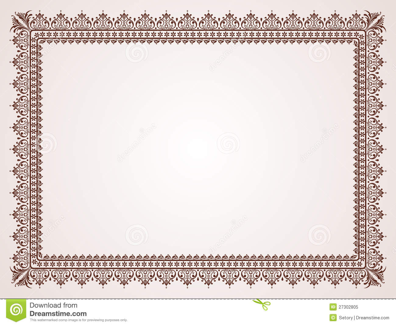 Blank Certificate Royalty Free Stock Photo - Image: 27302805