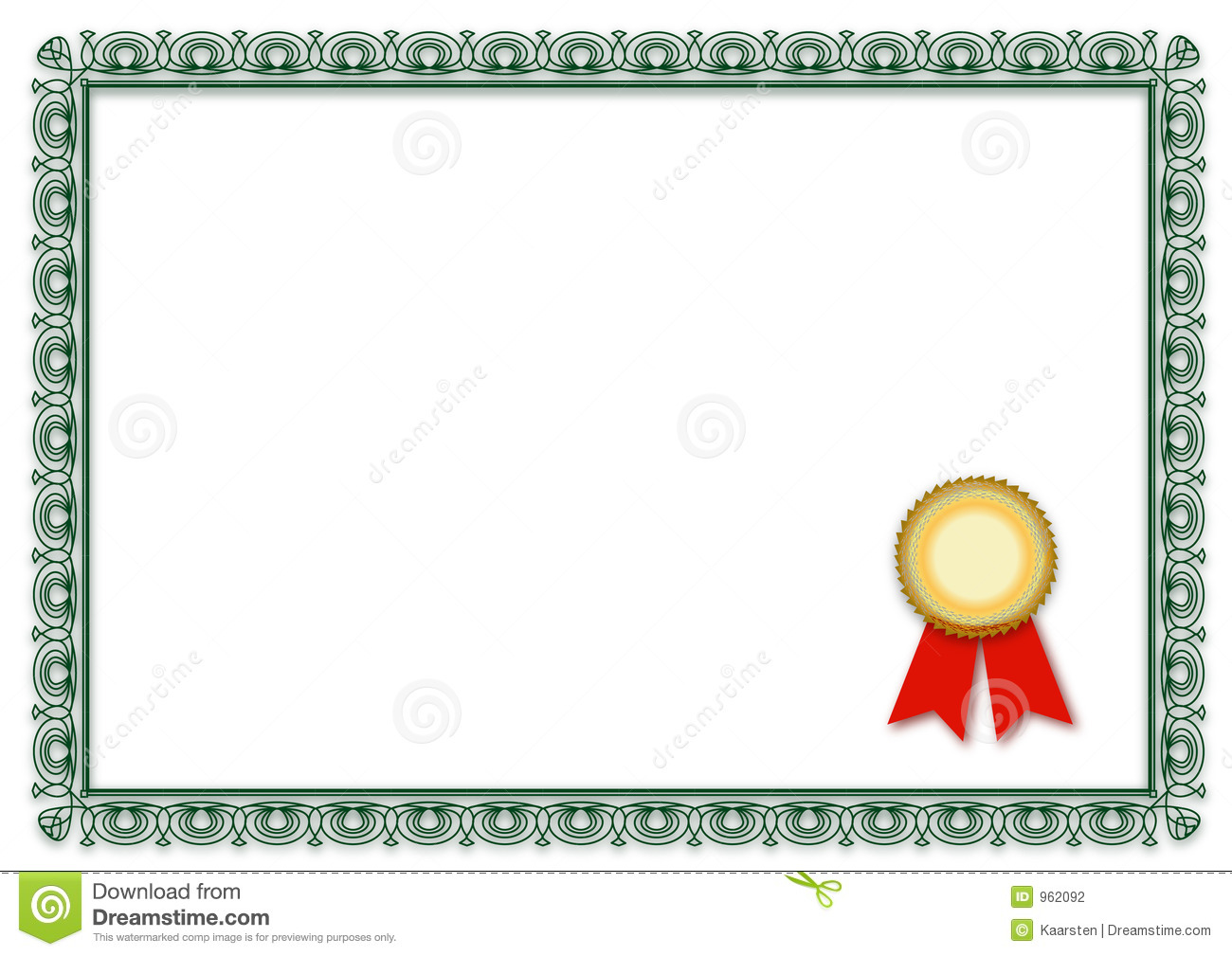 blank certificate. Ready to be filled with your individual text.