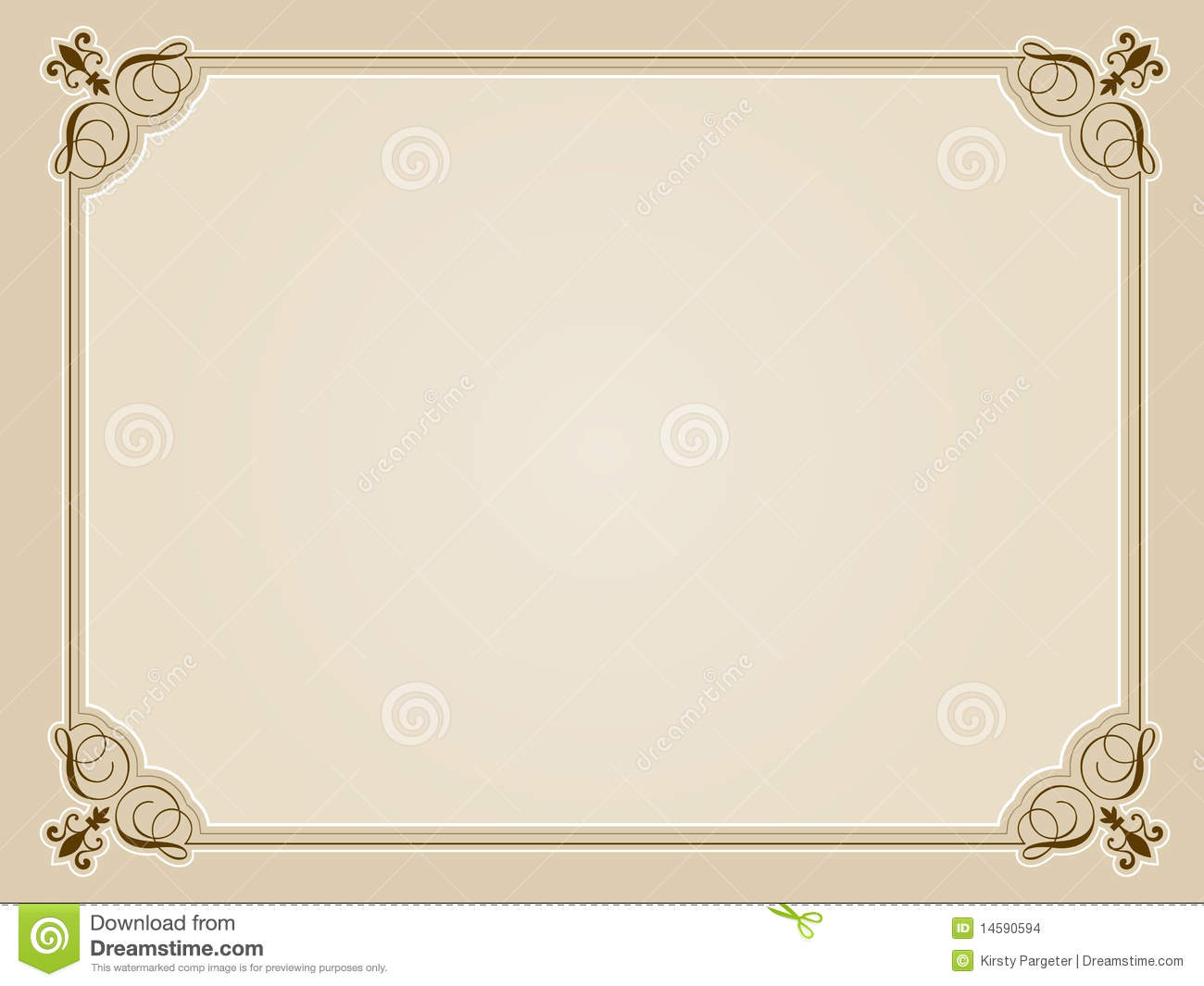 Blank Certificate Background Stock Images Image 14590594