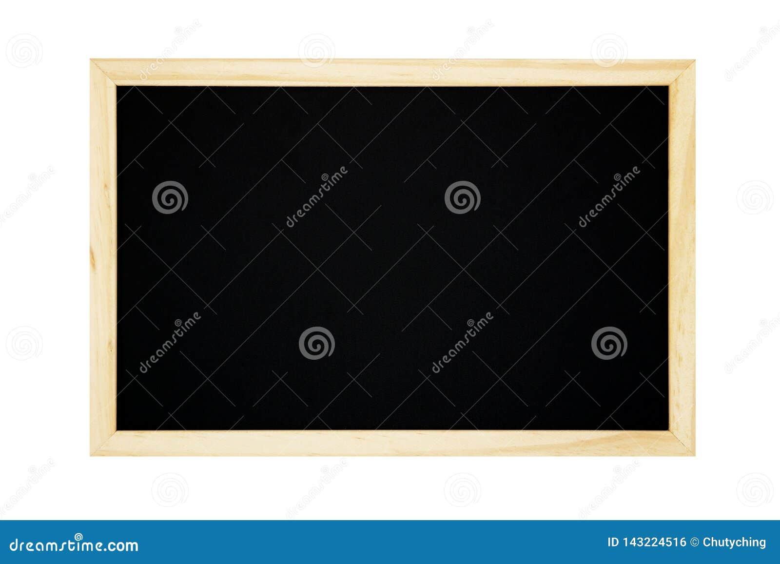 Blank chalkboard isolated on white background.