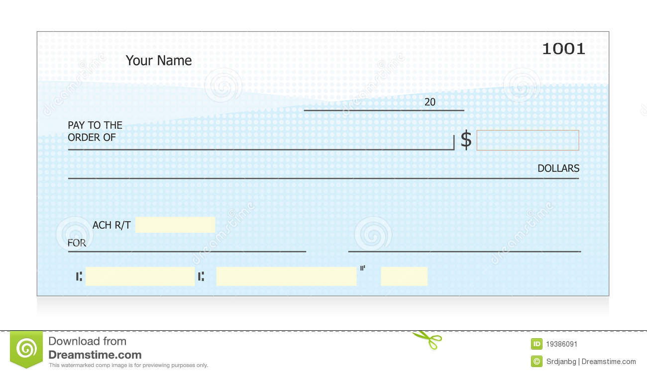 Fake blank check Print blank checks for check writing practice or for ...