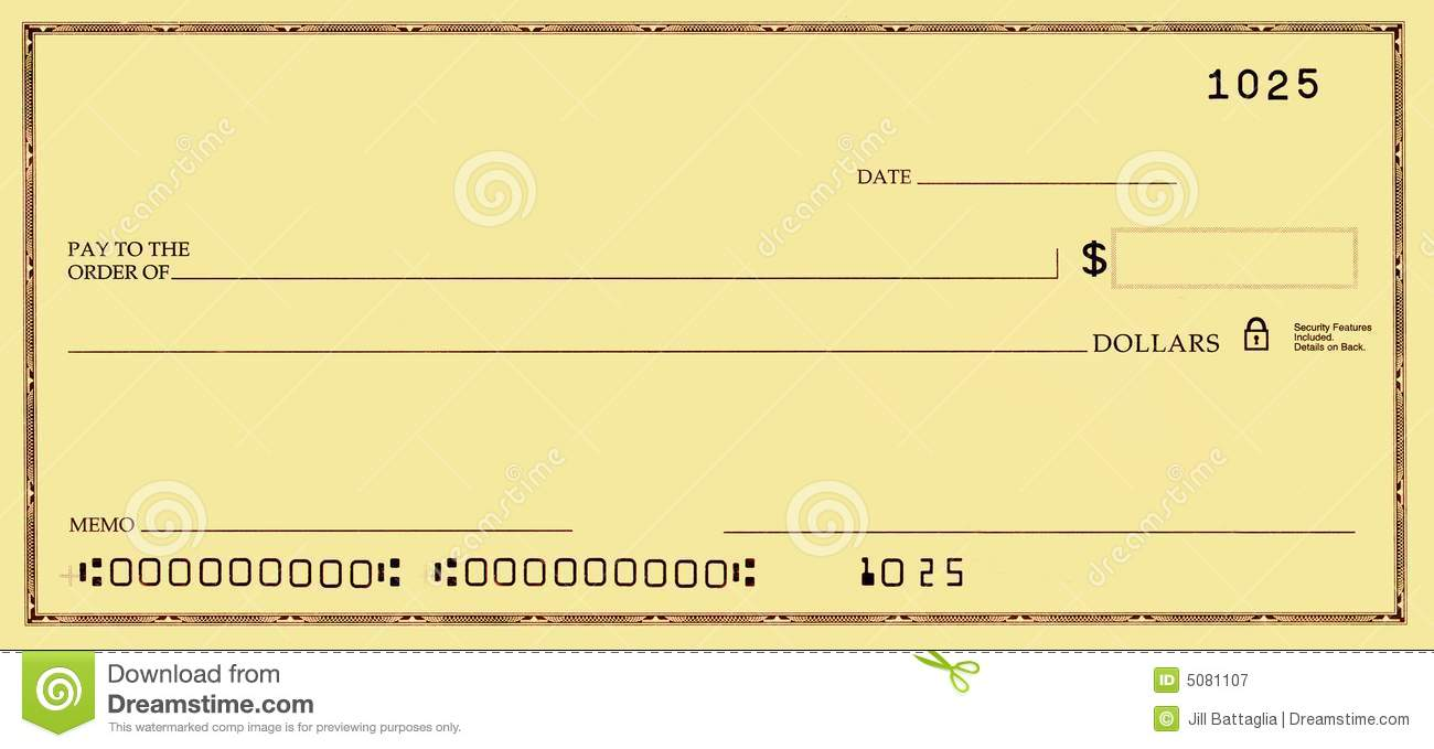Blank Check With Open Space For Your Text Royalty Free Stock Image ...