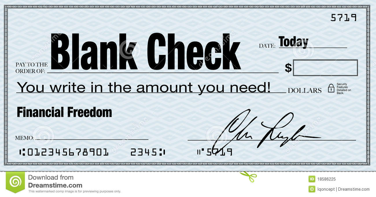 Blank Check - Financial Freedom From Wealth Stock ...