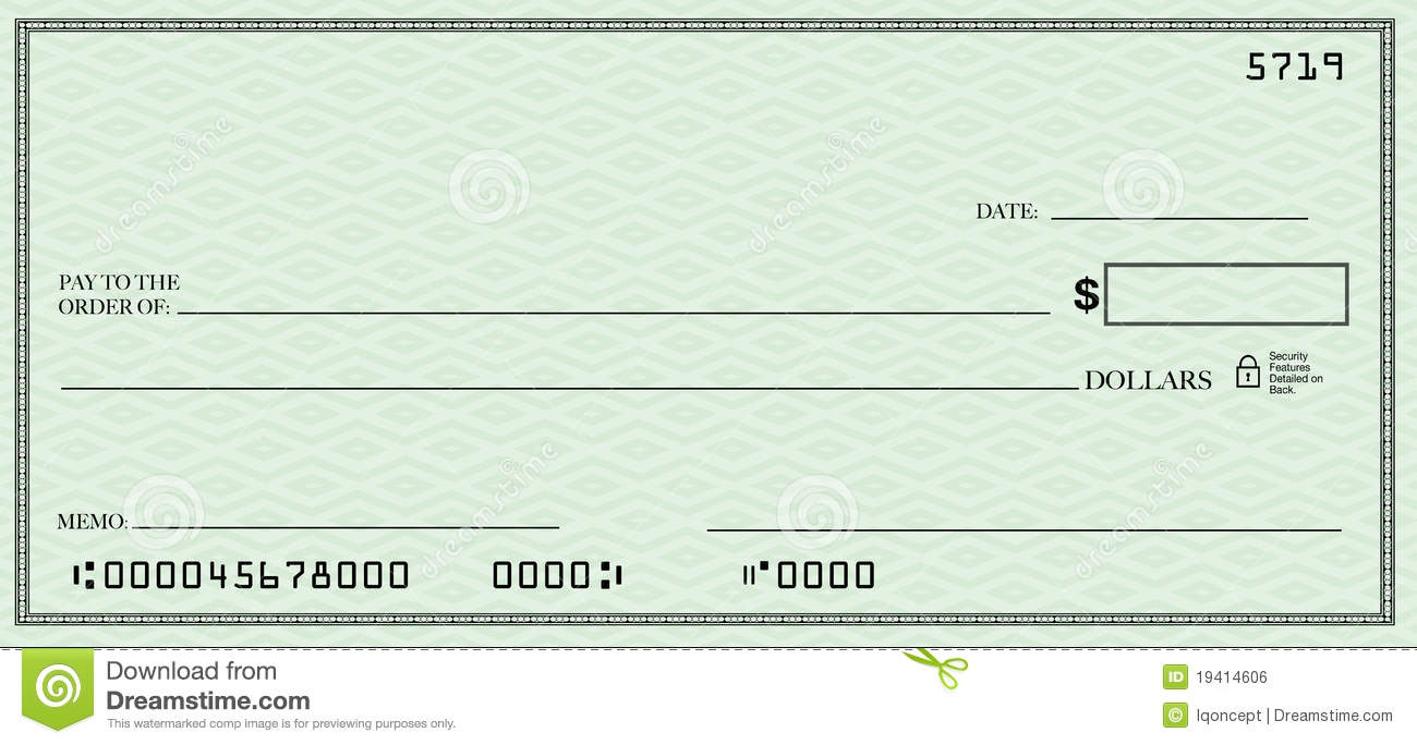 Royalty Free Stock Photo. Download Blank Check ...