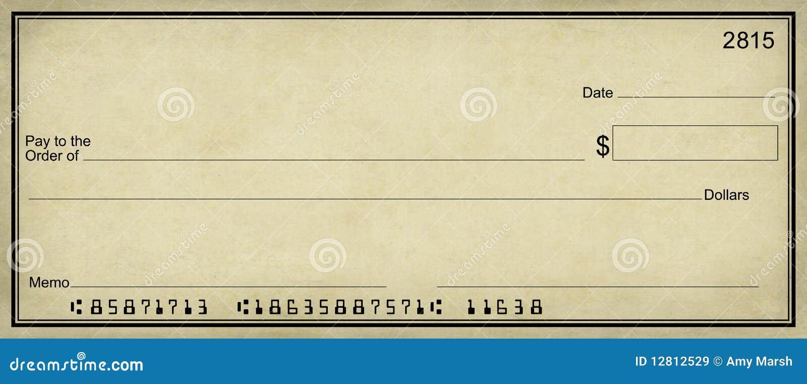 Free Clip Art Bank Check