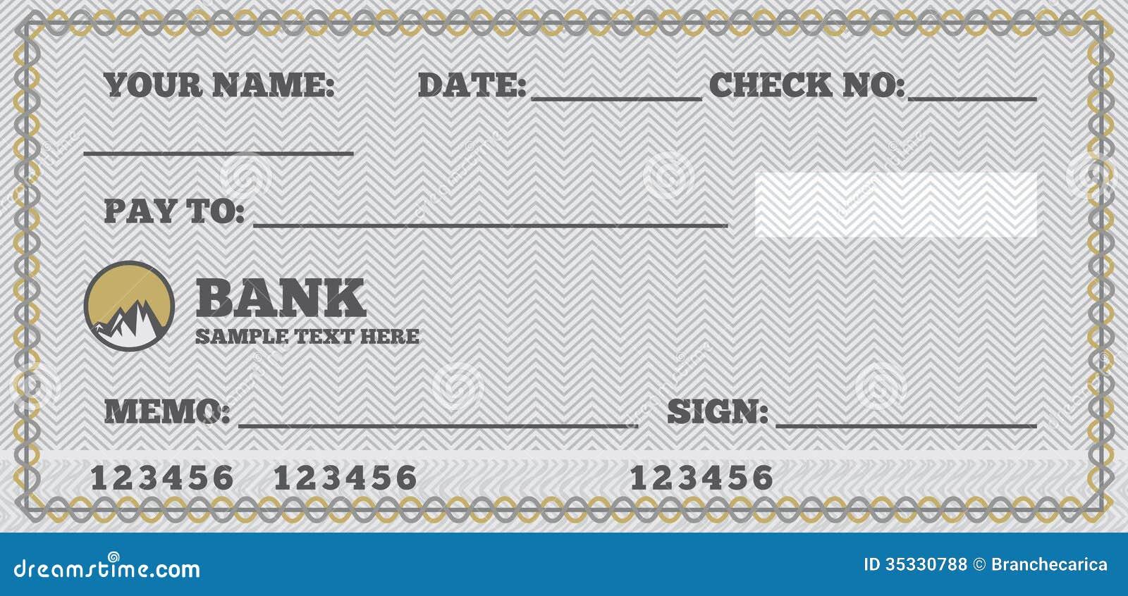 blank check royalty free stock photos  image 35330788