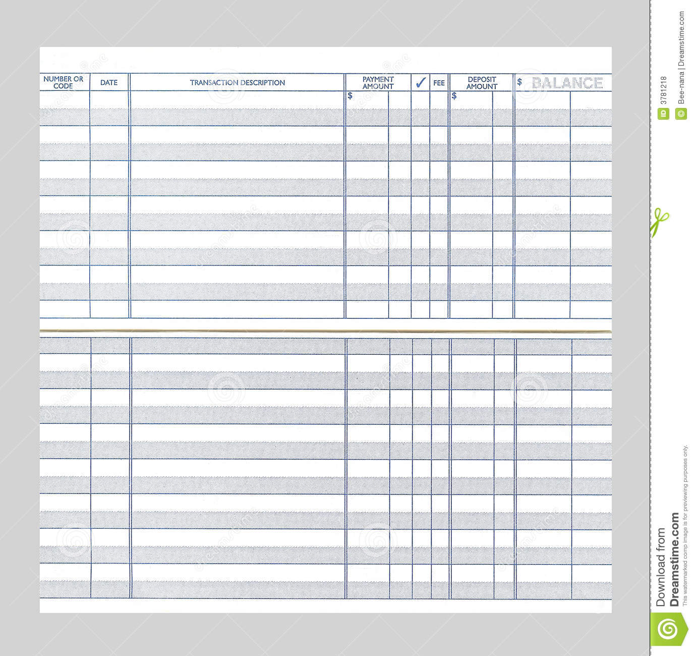 picture about Printable Checkbook Ledger referred to as Blank Checkbook Sign up inventory picture. Impression of sign-up