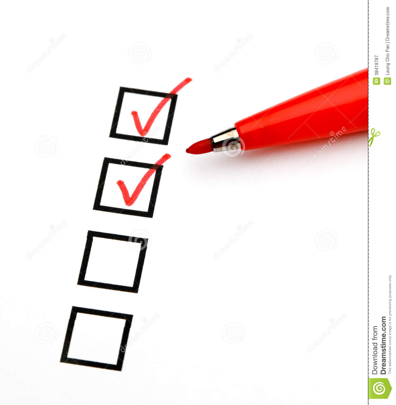 Blank Checkbox Stock Image Image Of Planning Closeup