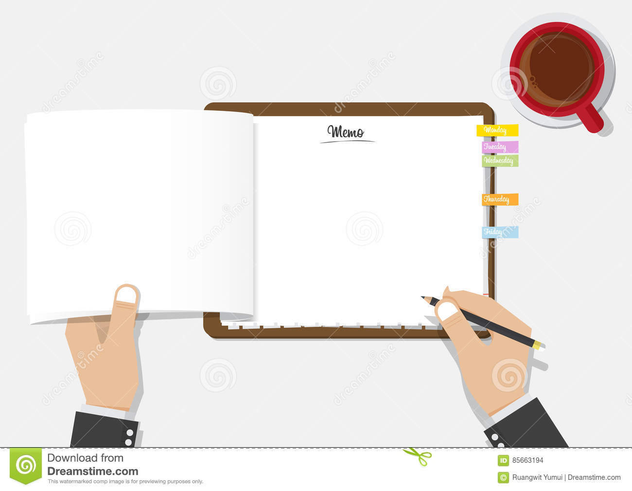 blank checklist clipboard with businessman's hand holding black