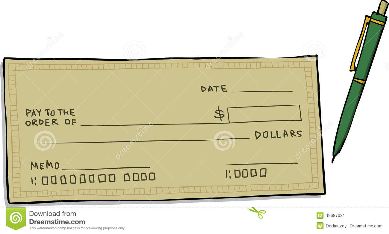 Blank Cheque Stock Vector Illustration Of Painting Cartoon 48687021