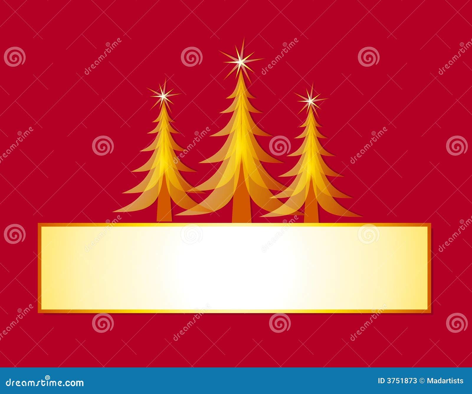 Blank Christmas Card With Trees Photos Image 3751873 – Blank Xmas Cards