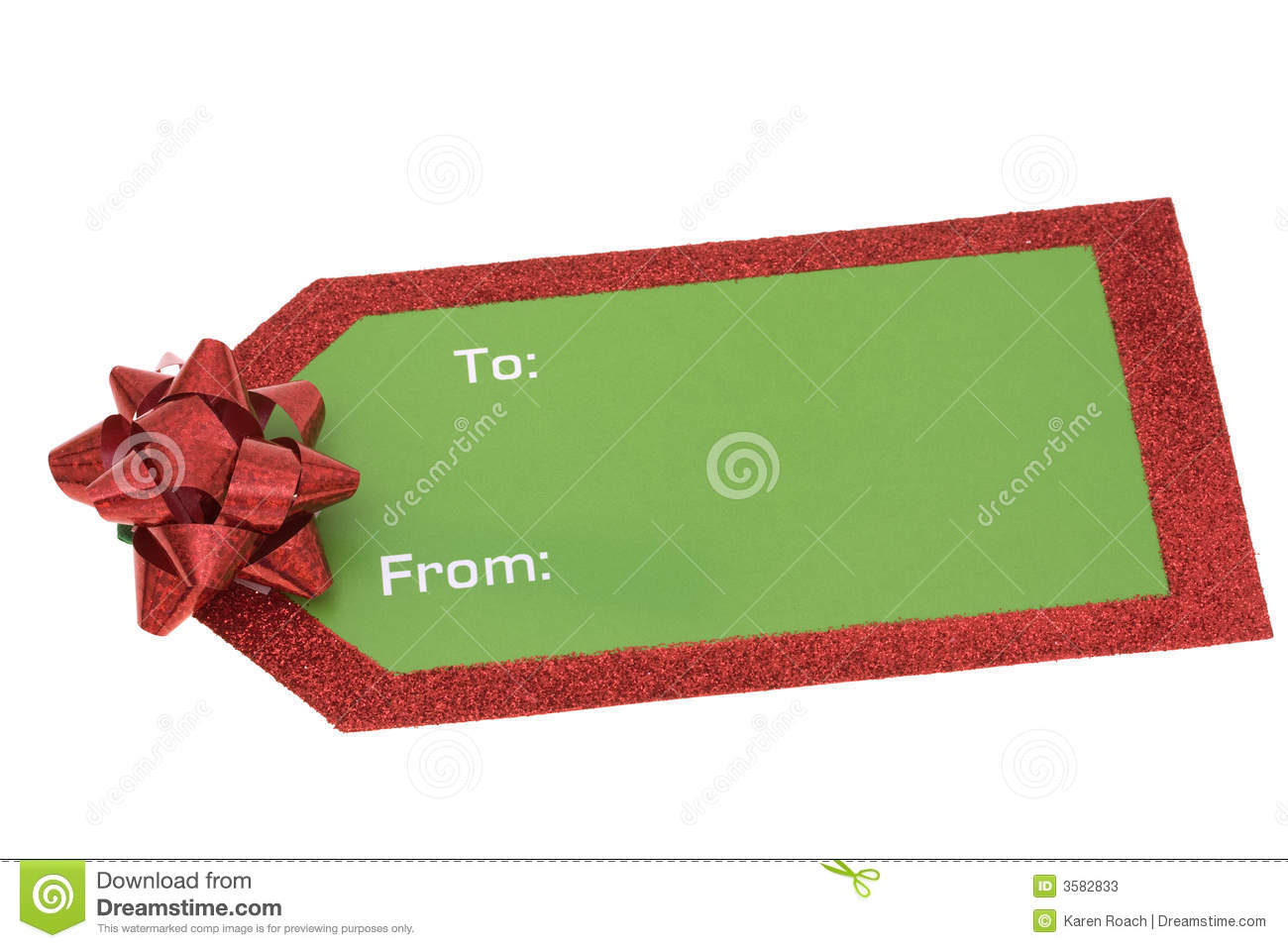 Blank Christmas Gift Tag Stock Photos - Image: 3582833