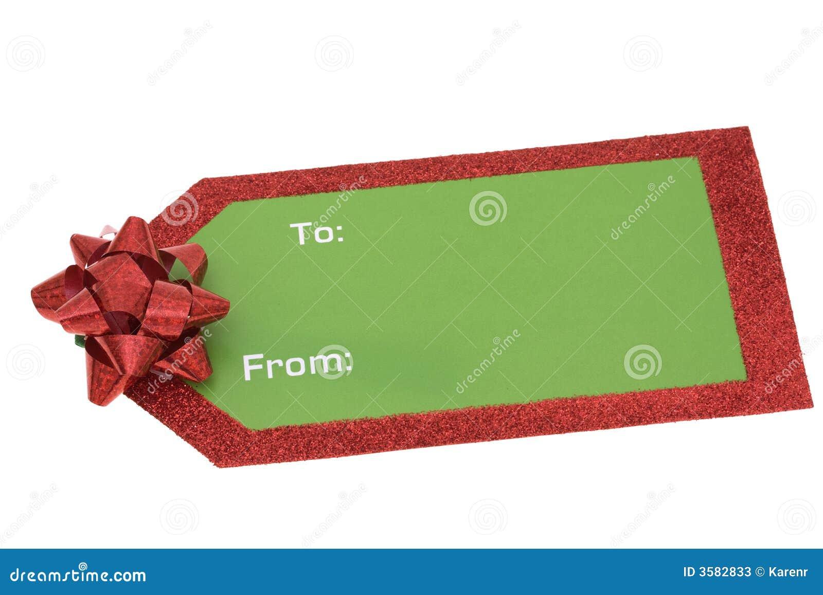 Blank Christmas Gift Tag stock image. Image of holidays ...